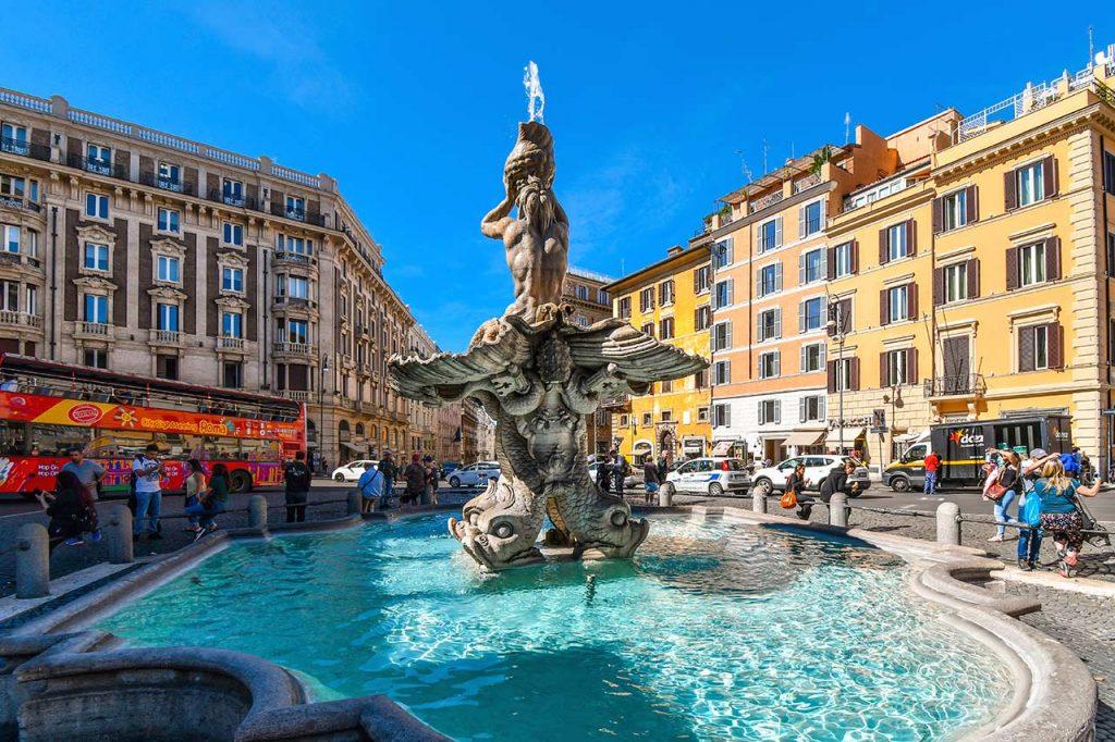 Tritonenbrunnen in Rom
